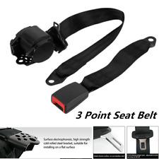 Adjustable 3 Point Retractable Car Seat Belt Bolt Extension Safety Strap Buckle