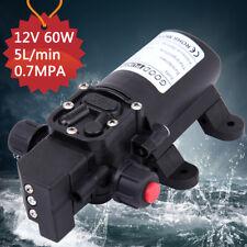 60W 12V 5.5L/Min Diaphragm Water Pump 100PSI High Pressure Self Priming Camping