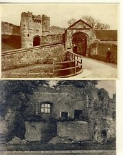 A 139 ISLE OF WIGHT - TWO POSTCARDS OF CARISBROOKE CASTLE