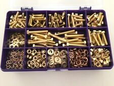 Brass Nuts and Bolts Washers Screws Assorted M4 & M5 Kit Assorted box 375 pcs