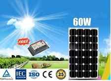 60W MONO SOLAR PANEL GENERATOR CARAVAN 12V BATTERY CHARGING+ 10A SOLAR REGULATOR