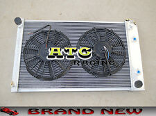 3 ROW ALUMINUM RADIATOR & FANS for 70-81 Chevy Camaro/75-79 Nova/68-73 Chevelle