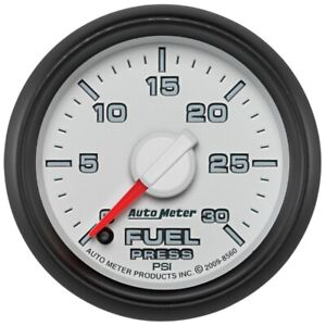 Autometer 52.4mm Electronic 0-30 PSI Fuel Pressure Gauge For Dodge Ram 2500 3500