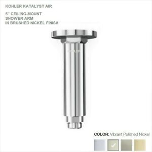 "K-15398T-SN_Kohler Katalyst Air 5"" C.M Shower Arm w/Flange Polished.Nickel NIB"
