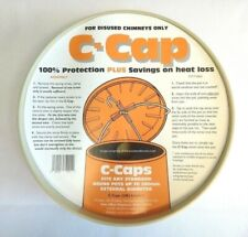 """CCAP Buff Chimney Capping Cowl fits disused Chimney Pots Up To 11"""" 280mm C-Cap"""