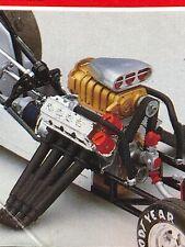 Hemi Nitro Engine Drag Race Unbuilt No Headers Rvl 124 Search Lbr Model Parts