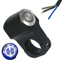 22mm Alu LED Motorrad Lenkerhalterung Schalter Tippschalter Drucktaster Schwarz