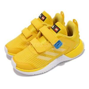 adidas LEGO Sport CF I Yellow White Blue Strap Toddler Infant Casual Shoe FZ5445