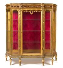 A Louis XVI Style Giltwood Vitrine Cabinet Lot 153