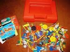 Over 3 1/4 Pounds MIXED Lot of K'NEX Parts in RED (Intermediate Set) Case~Clean