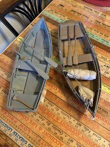 VINTAGE OLD HANDMADE ANTIQUE MODEL WOODEN SAILBOAT POND BOAT Lot Of 2