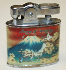 Vintage 1940-50s Memory of Japan Lighter - Colorful w/ Volcano Mountain & Map
