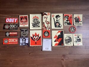 SHEPARD FAIREY Obey Giant Sticker Pack Set Of 17 Official Vinyl Art Stickers