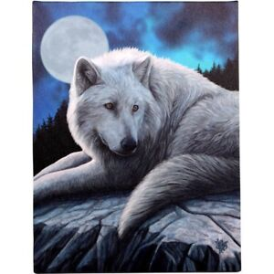 NORTH GUARDIAN WHITE WOLF CANVAS PICTURE PRINT LISA PARKER GOTHIC FANTASY MOON