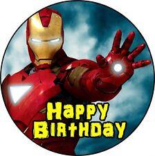 Avengers Iron Man  Deco Gateau Disque Azyme Comestible Anniversaire 20 cm