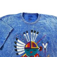 Vintage Sportex Native American Tie Dye Graphic T Shirt Monument Valley Sz XL