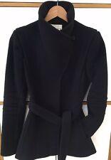 REISS black Coat/Jacket, Size XS (UK 6-8). 80% Wool. RRP £299