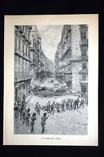Napoli 15 maggio 1848: il colpo di stato e le barricate di Via Toledo