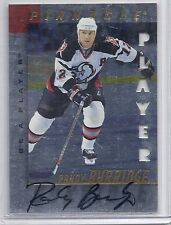 1997-98 BE A PLAYER RANDY BURRIDGE DIE CUT AUTOGRAPH BAP AUTO 79 SABRES