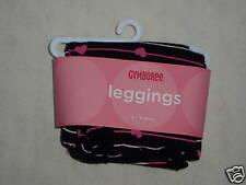 Gymboree TRES CHIC Black Pink Stripe Heart Ruffle Leggings Pant NWT 3-6 Baby