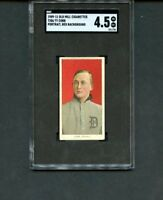 T206 1909 Old Mill Tobacco-Ty Cobb, red portrait, Detroit Tigers HOF, SGC 4.5