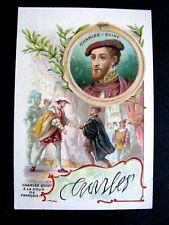CHROMO BON-POINT Ecole1910 Sirop Deschiens Charles-Quint signature homme célèbre