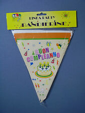 BANDIERINE BUON COMPLEANNO TORTA CANDELINE FESTONE STRISCIONE FESTA PARTY