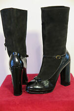 NWOB Marc by Marc Jacobs Suede Patent Leather Mary Jane Boots Sz 6.5B MSRP $725