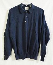 The GAP Blue Gray Cotton Knit Polo Sweater size Medium