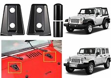 2pc Black Hood Hinge Covers For 2007-2017 Jeep Wrangler JK New Free Shipping USA