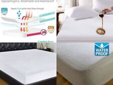 New Waterproof Terry Towel Mattress Protector Bed Cover Fitted Sheet All Sizes