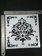 Baroque Damask Tusca Stencil Card Making Scrapbooking Airbrush Painting Home #2