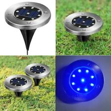 1x LED Solar Power Disk Lights Buried Light Outdoor Under Ground Waterproof Lamp