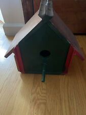 Hand Painted Bird House Copper Roof Custom