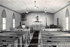 Michigan Mi RPPC Postcard c1950 HOUGHTON LAKE All Saints Ep. Church Interior