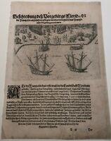 De Bry - St Augustine - Florida - Original Engraving - 1591 - Jacques Le Moyne