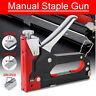 3 in 1 Heavy Duty Staple Gun Upholstery Stapler Tacker Hand Tool + 600 Nails