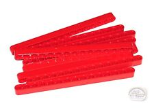 LEGO Technic - 9 x Studless Beams - 15L - Red - Liftarms - New - (NXT,EV3)