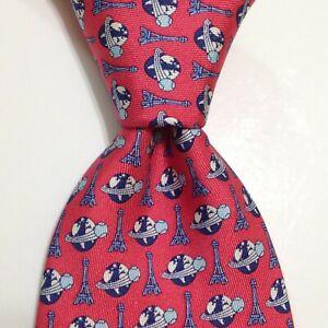 VINEYARD VINES Custom Collection Men's Silk Necktie USA TENNIS Pink/Blue PERFECT