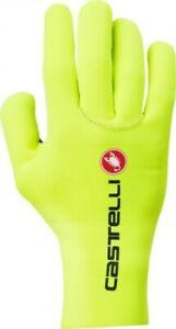 Castelli Diluvio Cycling Gloves, Yellow Fluo, Small-Medium, Unisex