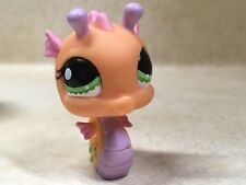 Littlest Pet Shop LPS #1132 Orange, Pink & Lime Green Seahorse Preowned