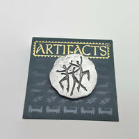 Artifacts JJ Pewter Stick Figure People Tac Style Pin