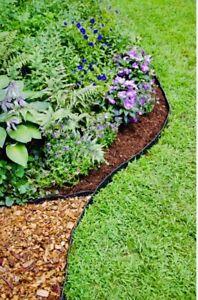 Fast Edge Pound-In Garden and Landscape Edging 20 Ft. Interlocking Parts, Easy