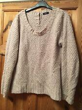 M&CO Ladies Pretty Pale Pink Textured Knit Jumper Size M