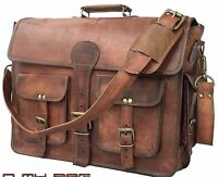 USA Men Briefcase Leather Business Shoulder Bag Messenger Satchel Laptop Handbag