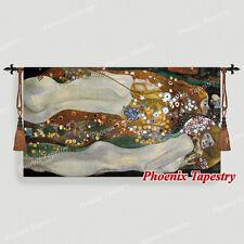 """80 x 140cm Gobelin Wandbehang Wandteppich """"Wasserschlangen II"""" - Gustav Klimt"""
