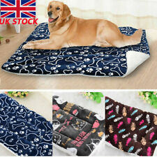 Soft Fleece Small Large Dog Bed Mat Pet Dog Crate Cage Cushion Washable Blanket