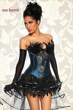 Sexy corsetto BURLESQUE taglie S, M, L, XL, 2XL (40,42,44,46,48) bustino piume !
