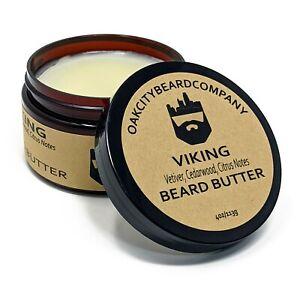Oak City Beard Co - (Viking) Beard Butter - 4oz - Vetiver - Cedarwood - Citrus
