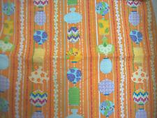 "Orange paper lantern print fabric approx 44"" wide by 11"" long"